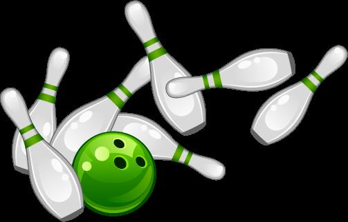 Bowlingkugel mit Kegel